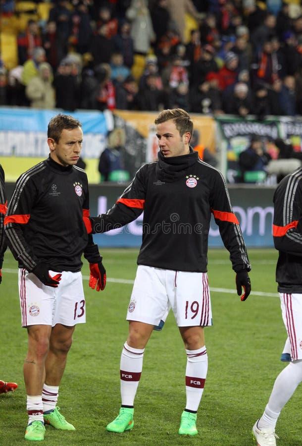 Футбольная игра Shakhtar Донецк против Bayern Munich стоковая фотография