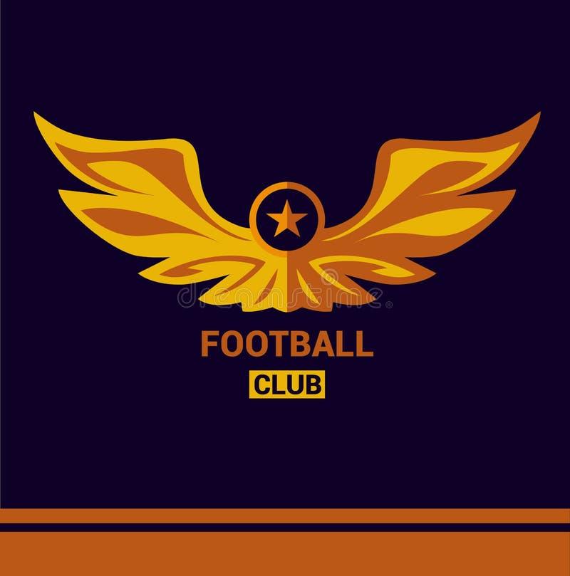 Футбольная команда футбола шаблона логотипа вектора крыла иллюстрация штока