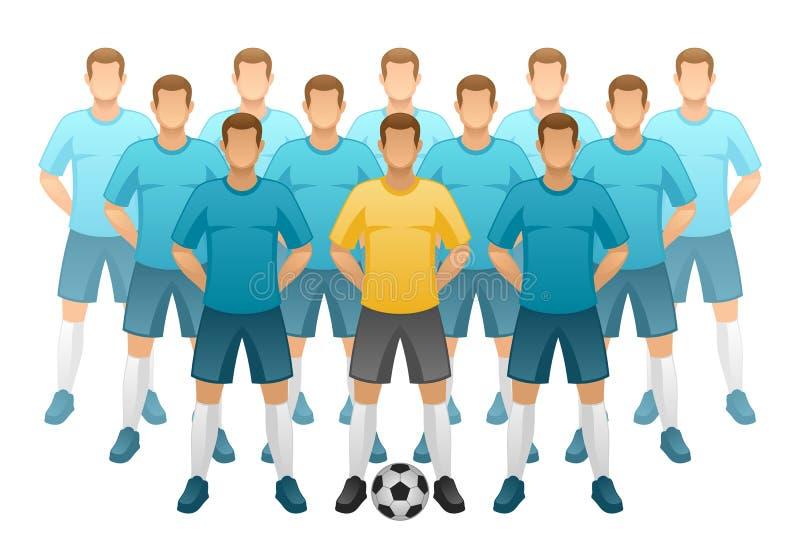 Футбольная команда иллюстрация вектора