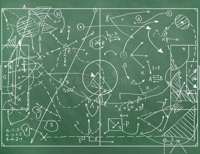 Футбольное поле при маркировки тренируя установку бесплатная иллюстрация