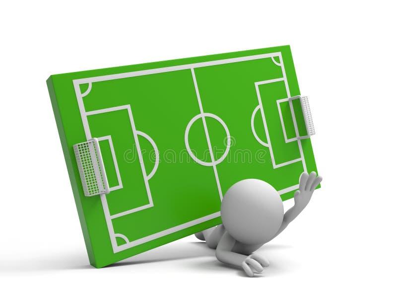 Футбольное поле бесплатная иллюстрация