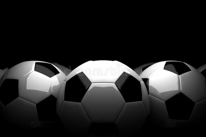 Футбольные мячи стоковые фотографии rf
