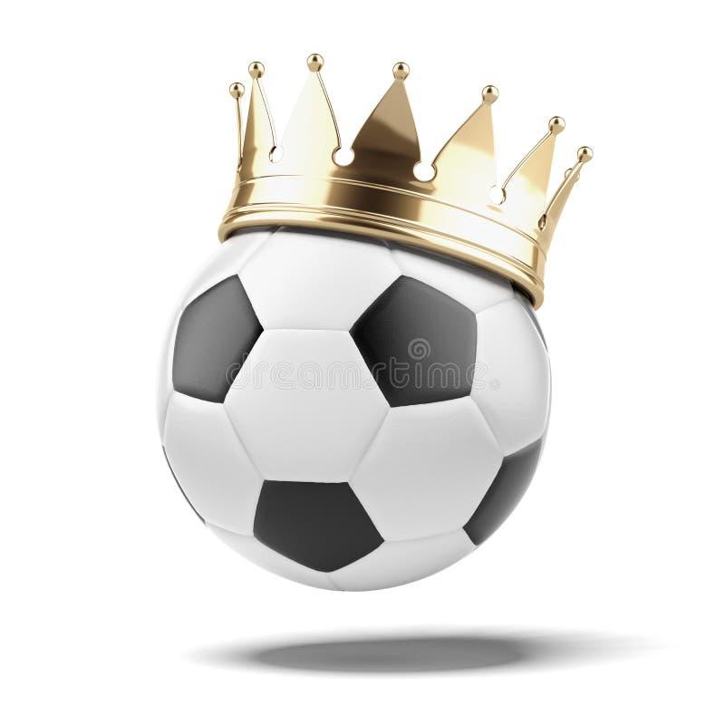 Футбольный мяч с золотой кроной стоковые фото