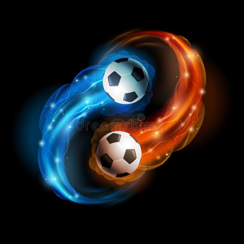 Футбольный мяч иллюстрация штока