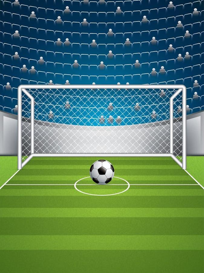 Футбольный стадион бесплатная иллюстрация