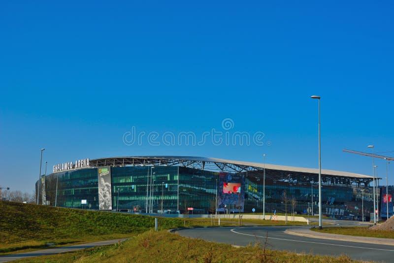 Футбольный стадион ghelamco современный стоковое фото rf