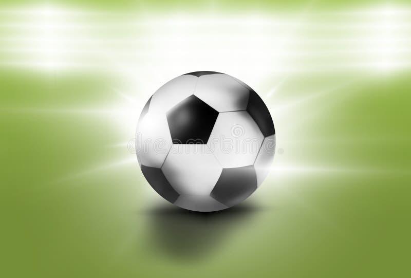Футбол 3D футбола спорта иллюстрация вектора