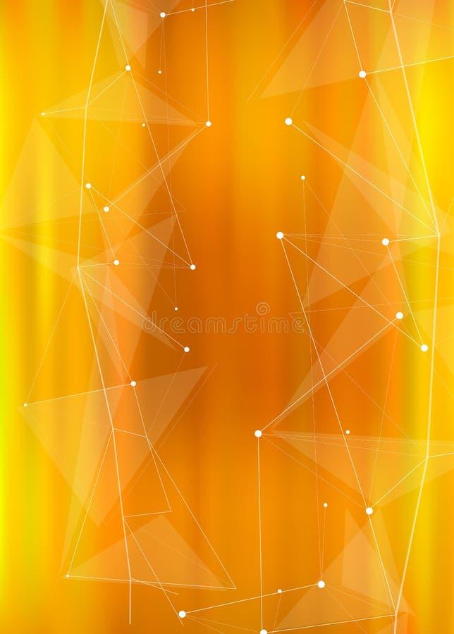 Футуристическая абстрактная иллюстрация с цифровой волной иллюстрация штока