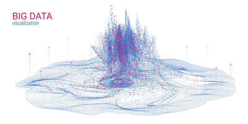 Футуристическая абстракция Большое визуализирование данных иллюстрация вектора