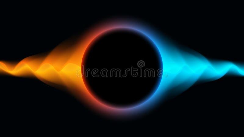 Футуристическая волнистая предпосылка с абстрактной жидкостной подачей Светя конспект   бесплатная иллюстрация