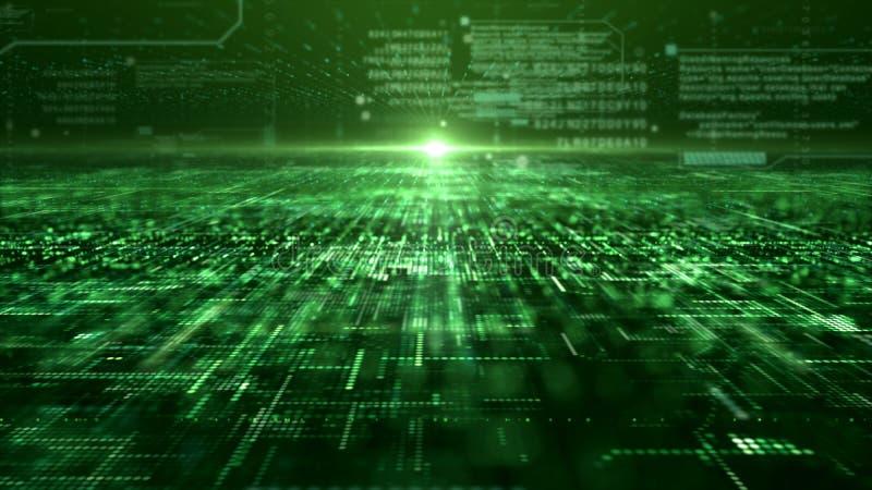 Футуристическая решетка частиц матрицы цифров абстрактная бесплатная иллюстрация