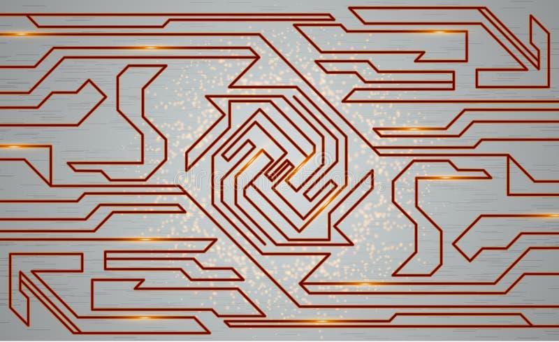 Футуристическая текстура techno, иллюстрация абстрактной технологии иллюстрация вектора
