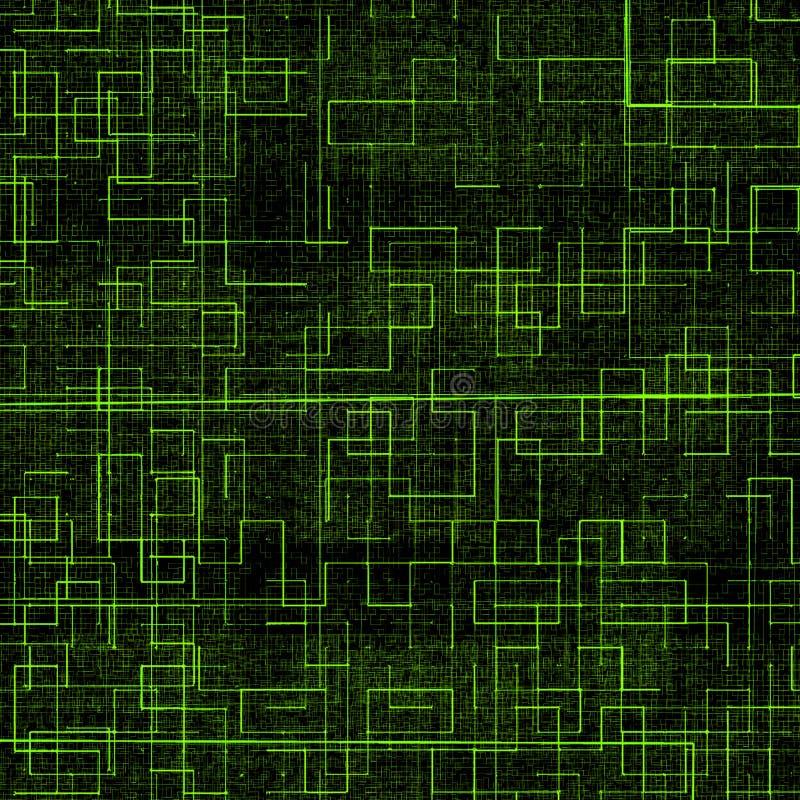 Футуристическая яркая ая-зелен предпосылка технологии иллюстрация вектора