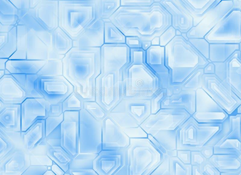 Футуристические абстрактные предпосылки техника цифровая ровная текстура иллюстрация вектора