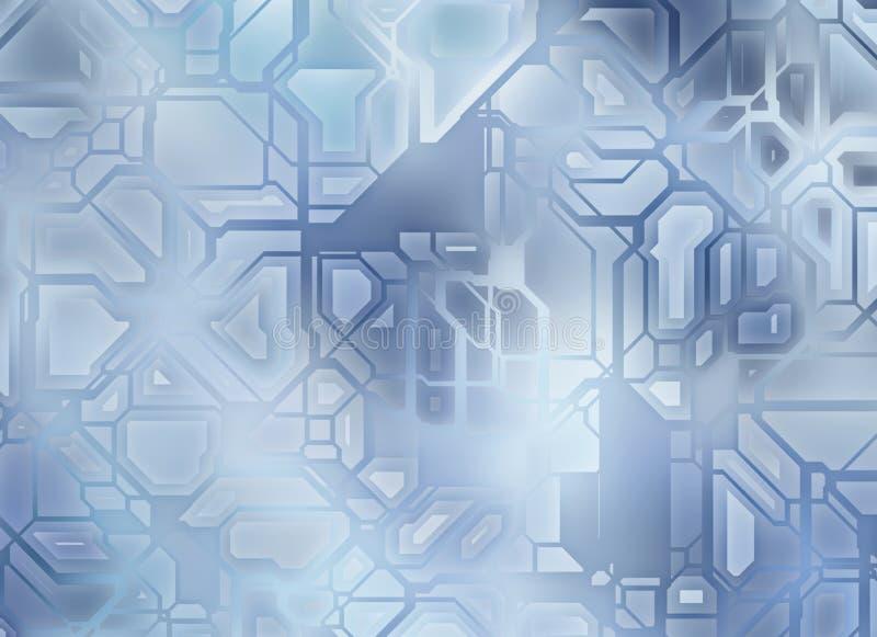 Футуристические абстрактные предпосылки шестерни техника цифровое ровное textur иллюстрация вектора