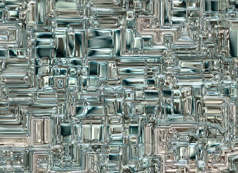 футуристические абстрактные стеклянные прозрачные предпосылки цифровое smoot стоковая фотография rf