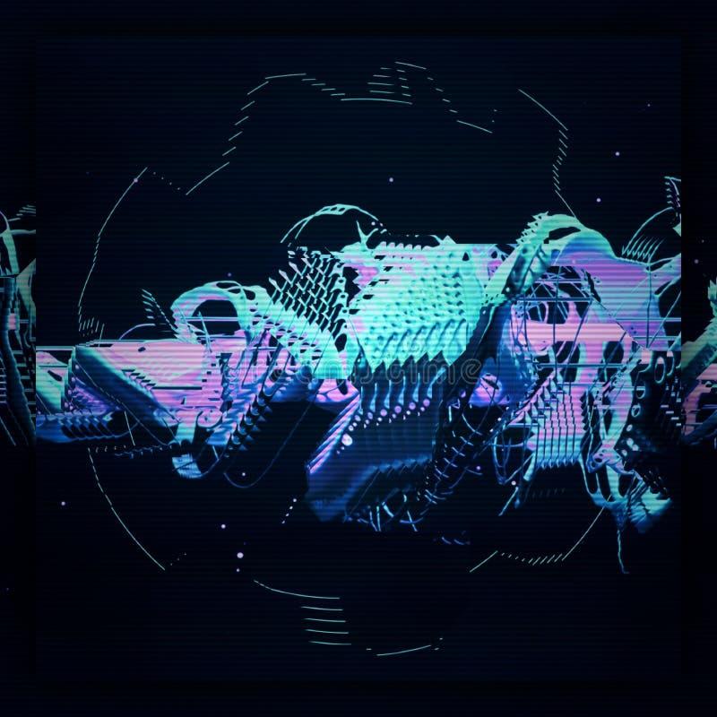 футуристические графики 3d иллюстрация штока