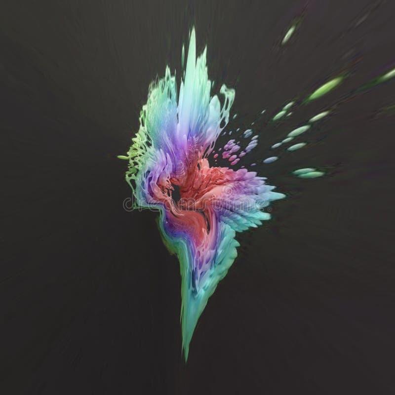 футуристические графики 3d бесплатная иллюстрация