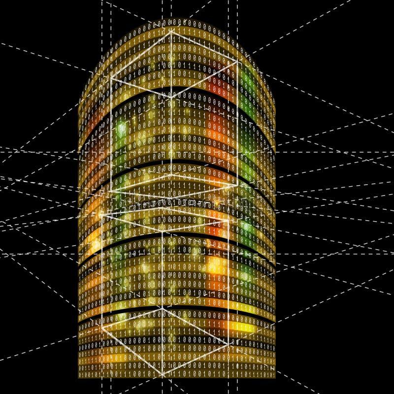 футуристические небоскребы иллюстрация вектора