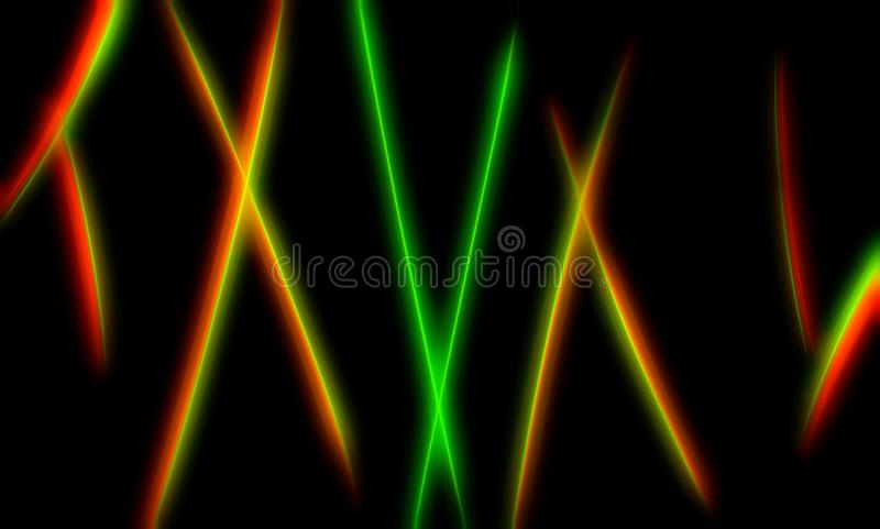 Футуристические неоновые изогнутые линии абстрактная предпосылка иллюстрации бесплатная иллюстрация