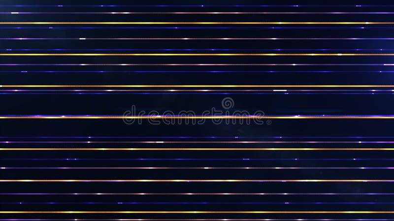 Футуристические редкие параллельные горизонтальные multicolor частицы выравнивают a иллюстрация вектора
