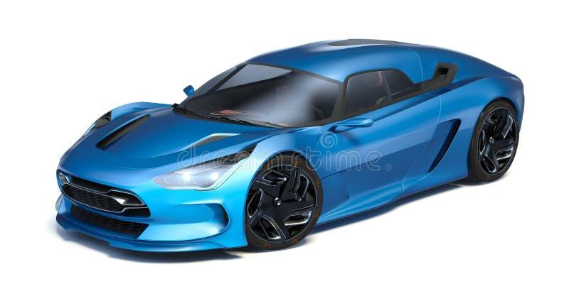 Футуристический автомобиль концепции 3d иллюстрация штока