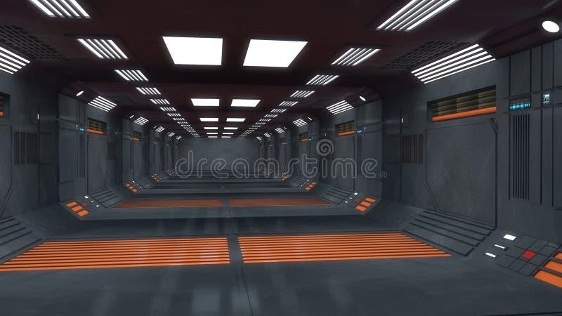Футуристический внутренний коридор стоковое изображение rf