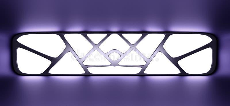 Футуристический голубой тоннель со светлым внутренним backgroun будущего взгляда иллюстрация штока