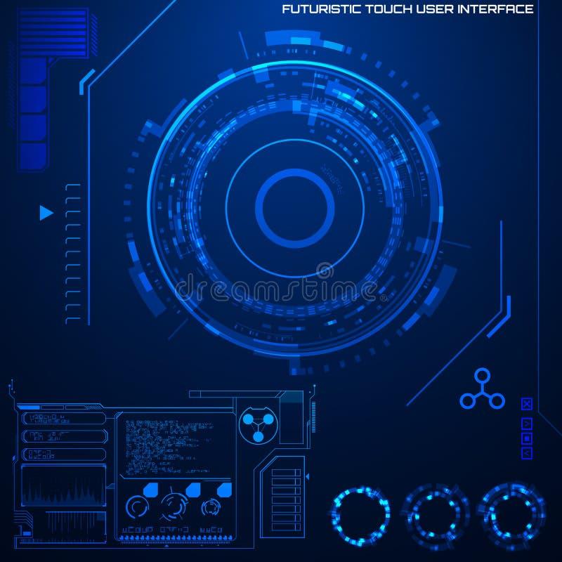 Футуристический графический пользовательский интерфейс иллюстрация штока