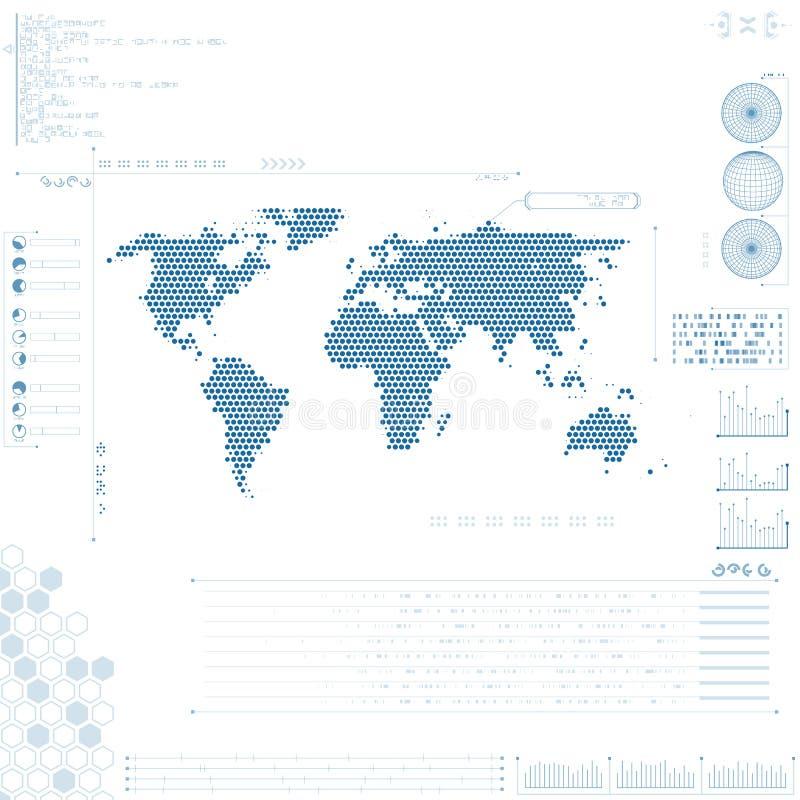 Футуристический графический пользовательский интерфейс иллюстрация вектора