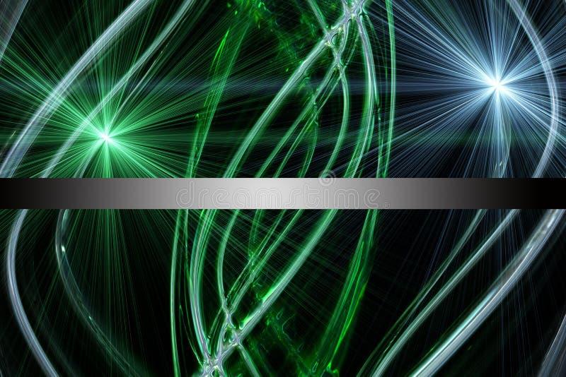 Футуристический дизайн волны eco с светом иллюстрация вектора