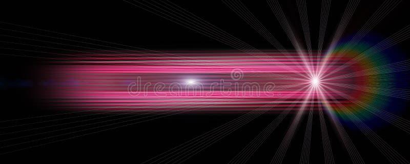 Футуристический дизайн предпосылки панорамы нашивки со светами иллюстрация вектора