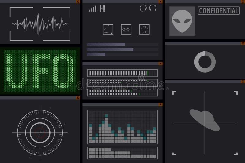 Футуристический интерфейс UFO иллюстрация вектора