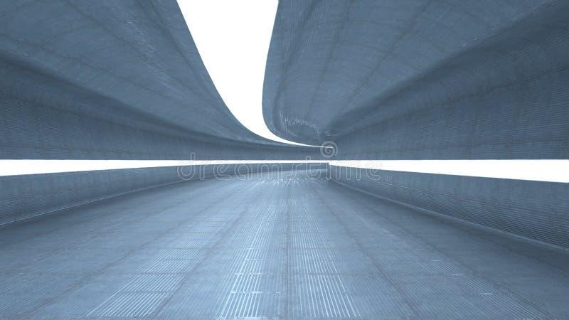 Футуристический коридор иллюстрация вектора
