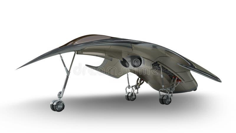Футуристический космический корабль войск чужеземца 3D бесплатная иллюстрация