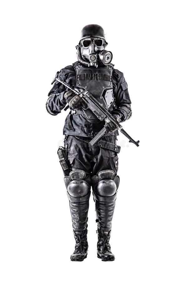 Футуристический нацистский солдат с schmeisser стоковая фотография