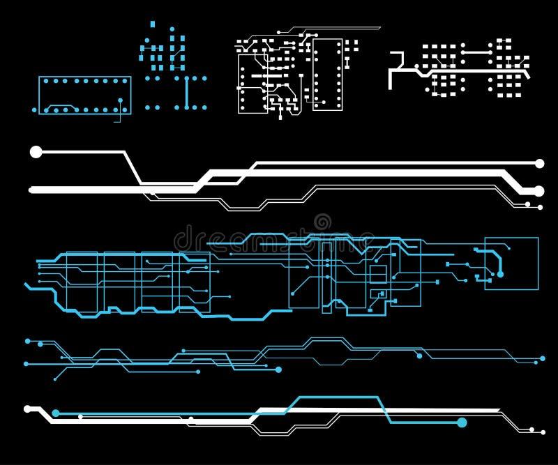 Футуристический пользовательский интерфейс HUD бесплатная иллюстрация