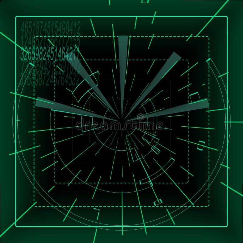 Футуристический приборный щиток иллюстрация штока