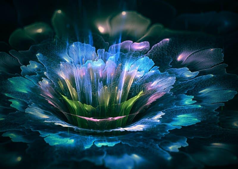 Футуристический цветок иллюстрация штока