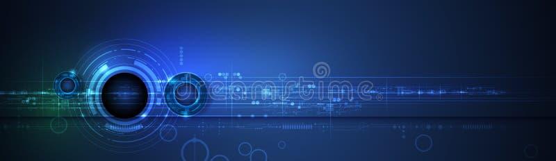 Футуристическое конспекта современное, инженерство, наука, предпосылка технологии Hi техник цифровой соединяется, сообщение бесплатная иллюстрация