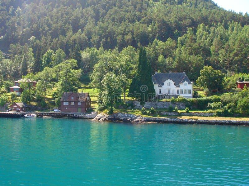 фьорды норвежские стоковая фотография rf