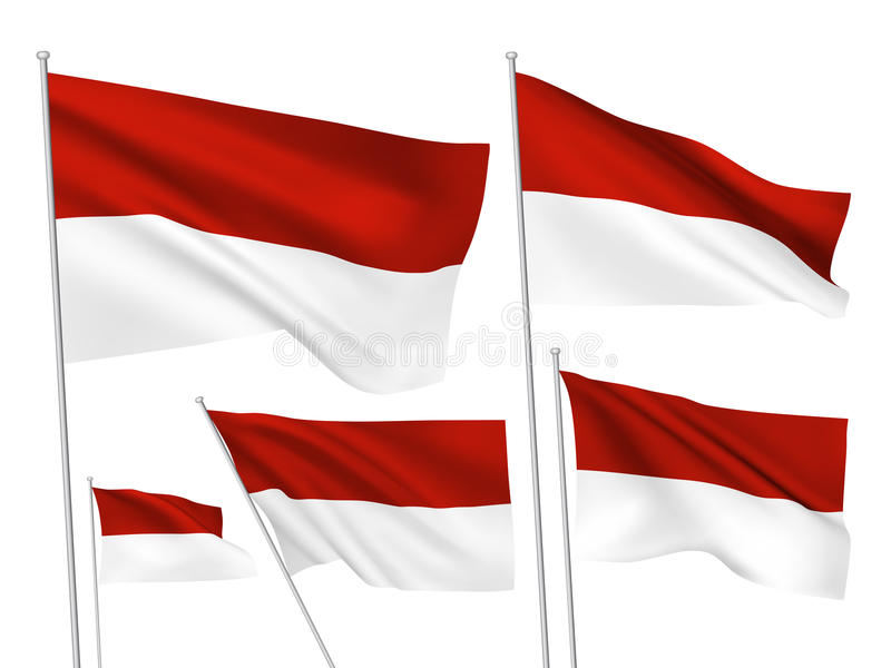 Флаги вектора Индонезии иллюстрация штока