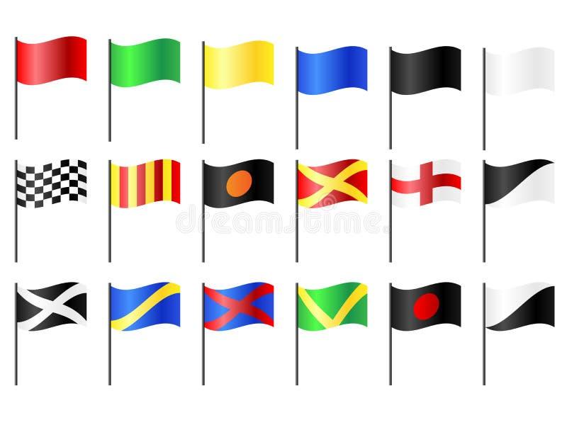 Флаги гонок мотора иллюстрация вектора