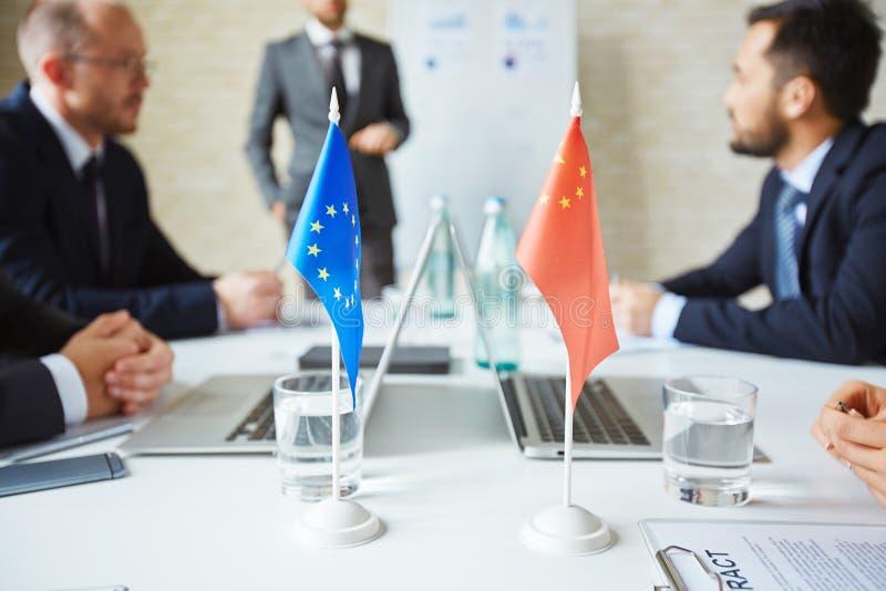 Флаги положений партнера стоковые фотографии rf