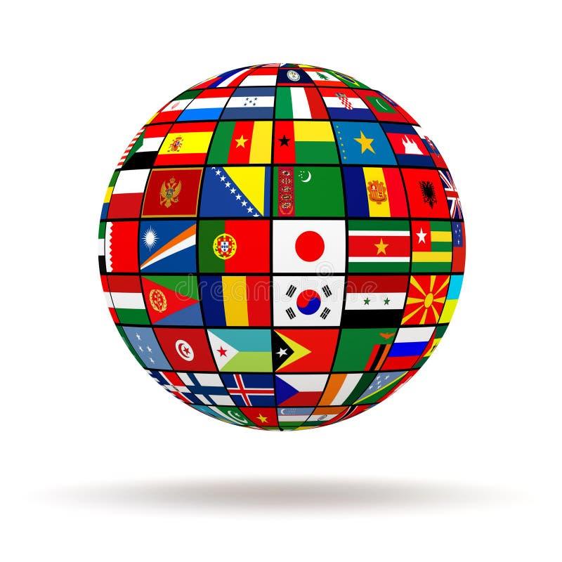 Download Флаги планеты иллюстрация штока. иллюстрации насчитывающей суверенство - 37930980