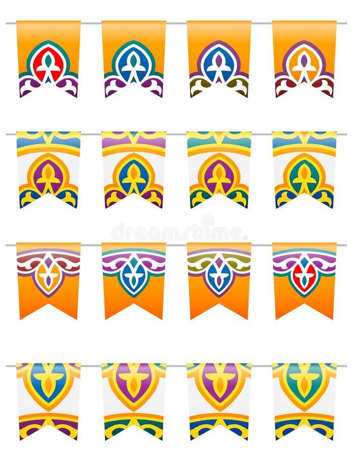 Флаги Рамазана традиционные иллюстрация вектора