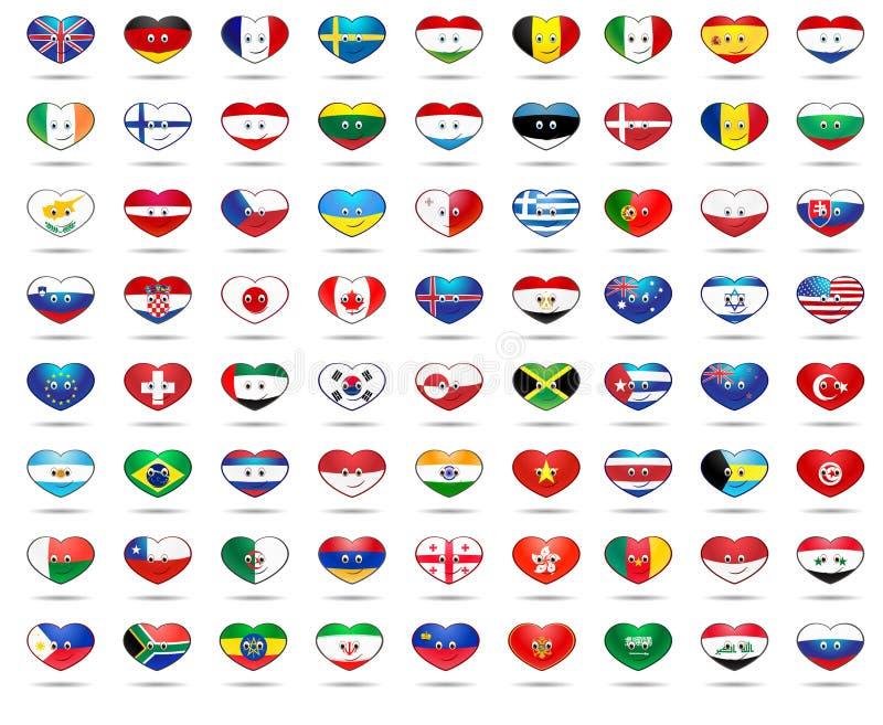 Флаги сердца стоковая фотография