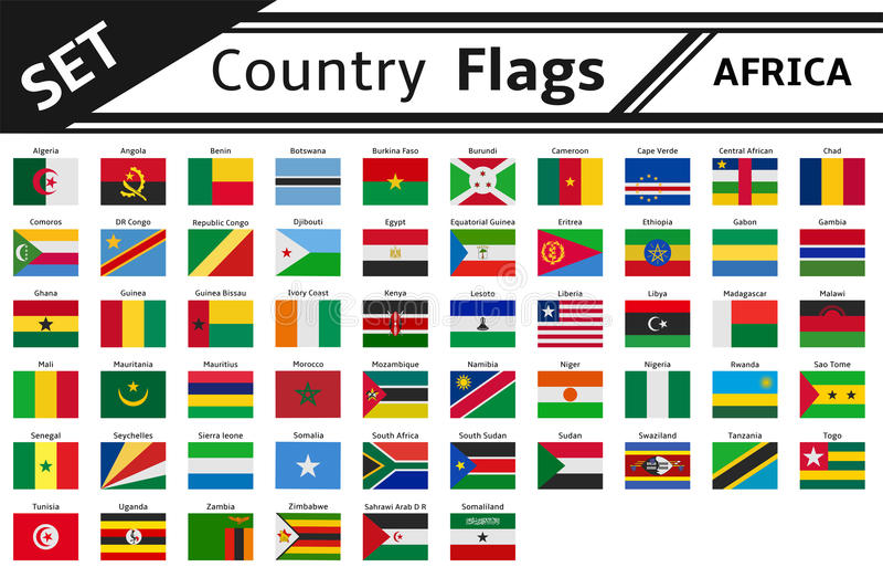 Флаги стран Африка иллюстрация штока