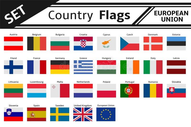 Флаги стран Европа иллюстрация штока