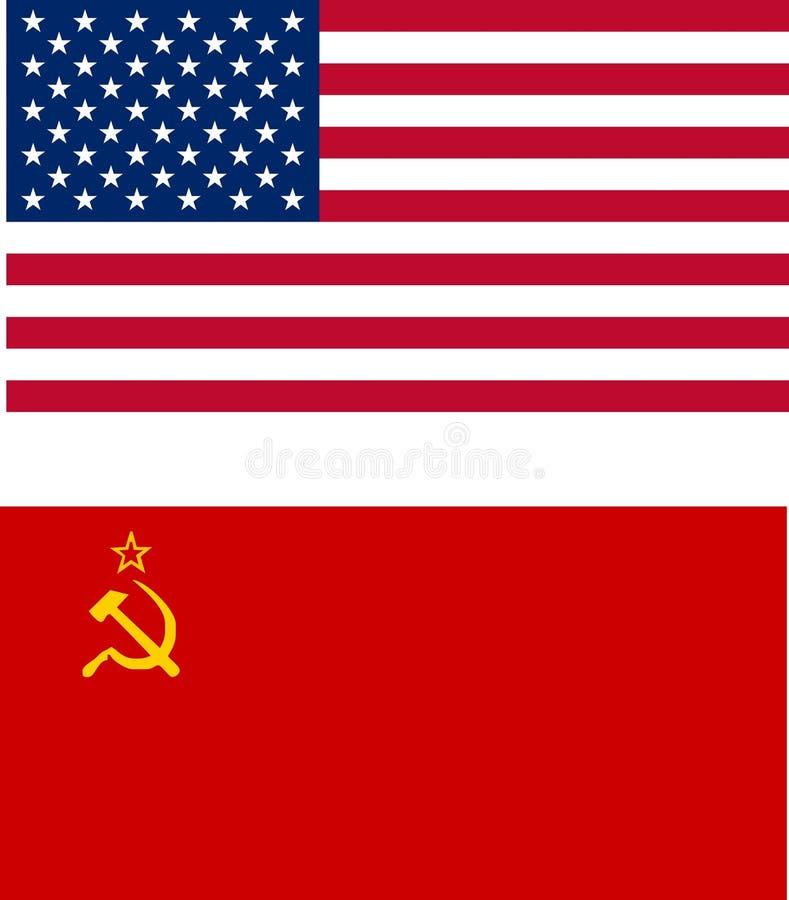 Флаги США и СССР бесплатная иллюстрация
